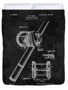 Antique Fishing Reel Patent Duvet Cover
