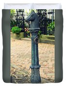 Antique Hitching Post Duvet Cover