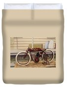 Antique Indian Motorcycle Red...   # Duvet Cover