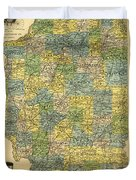Antique Map Of Indianapolis By The Parry Mfg Company - Historical Map Duvet Cover