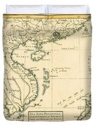 Antique Map Of South East Asia Duvet Cover