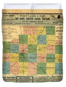 Antique Map Of The Mclean County - Business Advertisements - Historical Map Duvet Cover