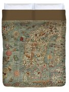 Antique Maps - Old Cartographic Maps - Antique Map Of Scandinavia In Latin, 1539 Duvet Cover