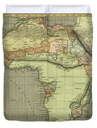 Antique Maps - Old Cartographic Maps - Antique Map Of Africa Duvet Cover