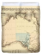 Antique Maps - Old Cartographic Maps - Antique Map Of Australia Duvet Cover
