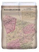 Antique Maps - Old Cartographic Maps - Antique Map Of Sudbury, Canada, 1875 Duvet Cover