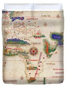 Antique Maps - Old Cartographic Maps - Antique Map Of The World, 1502 Duvet Cover