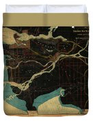 Antique Maps - Old Cartographic Maps - Antique Map Of Vancouver, New Westminster, Steveston Duvet Cover
