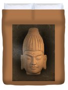 antique oil effect Buddha Burmese Duvet Cover