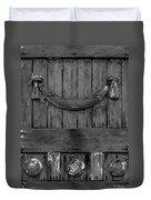 Antique Ornate Wood Panel Duvet Cover