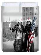 Antique Photo Of Two Women Duvet Cover