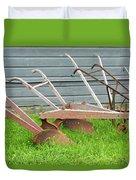 Antique Plows Duvet Cover