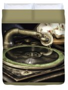 Antique Record Player 01 Duvet Cover