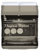 Antique Subway Entrance Duvet Cover by Dick Wood