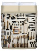 Antique Tools Duvet Cover