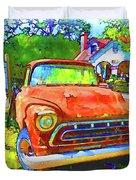 Antique Tow Truck Duvet Cover