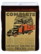 Antique Truck Poster Duvet Cover