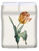 Antique Tulip Print Duvet Cover