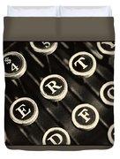 Antique Typewriter Keys Detail Duvet Cover