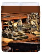 Antique Typewriter Duvet Cover