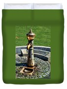 Antique Water Fountain Duvet Cover