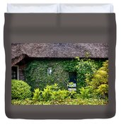 Antique Yard And Green Facade,  Dutch House Duvet Cover
