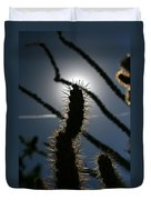 Anza Borrego Cholla Sillouette Duvet Cover