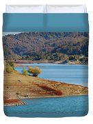 Aoos Lake Shore In Epirus, Greece Duvet Cover