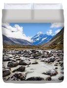 Aoraki Mount Cook Hooker Valley Southern Alps Nz Duvet Cover