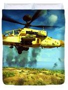 Apache Ai Assault - Operation Desert Wolves Duvet Cover