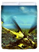 Apache Ai Assault - Operation Osama Duvet Cover