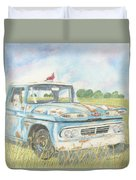 Apache Out To Pasture Duvet Cover
