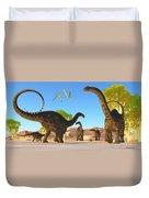 Apatosaurus Forest Duvet Cover