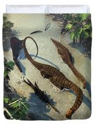 Apatosaurus From Above Duvet Cover