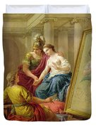 Apelles In Love With The Mistress Of Alexander Duvet Cover