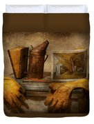 Apiary - The Beekeeper  Duvet Cover by Mike Savad