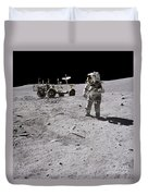 Apollo 16 Astronaut Collects Samples Duvet Cover