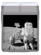 Apollo 16 Astronaut Reaches For Tools Duvet Cover