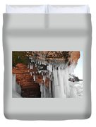 Apostle Islands Icicles Duvet Cover