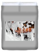 Apostle Islands Icicles Macro Duvet Cover