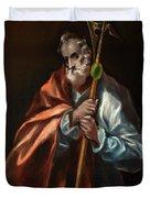 Apostle Saint Thaddeus, Jude Duvet Cover
