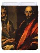 Apostles Peter And Paul 1592 Duvet Cover
