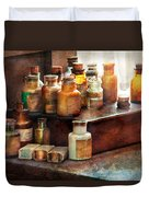 Apothecary - Chemical Ingredients  Duvet Cover by Mike Savad