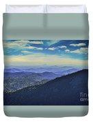 Appalachia Blue Duvet Cover