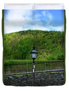 Appalachian Trail In West Virginia Goes Through Harpers Ferry Duvet Cover