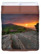 Appalachian Trail Roan Highlands Jane Bald Sunset Landscape Duvet Cover