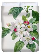 Apple Blossom Duvet Cover by Pierre Joseph Redoute