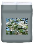 Apple Blossoms Art Prints 60 Spring Apple Tree Blossoms Blue Sky Landscape Duvet Cover