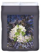 Apple Blossoms At Dusk Duvet Cover