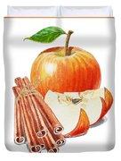 Apple Cinnamon Duvet Cover